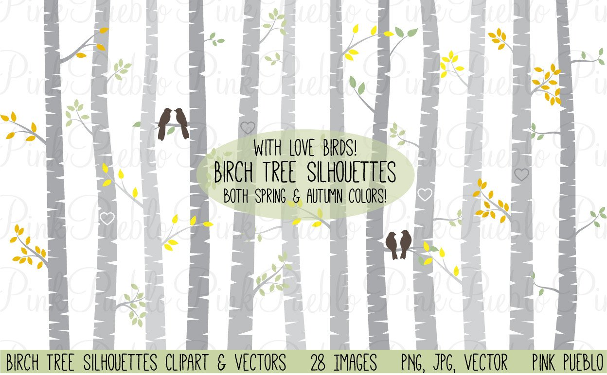 Birch Tree Clipart and Vectors.