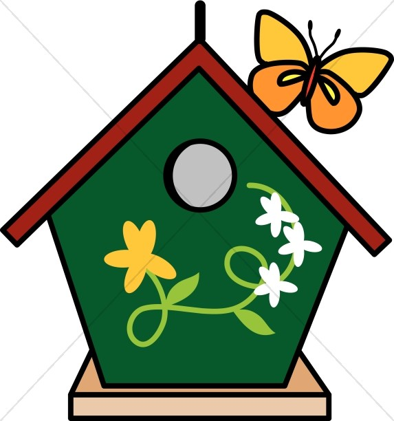 Bird house clipart 4 » Clipart Station.