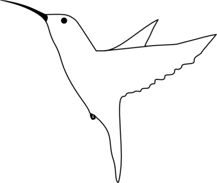 Flying Bird Outline.