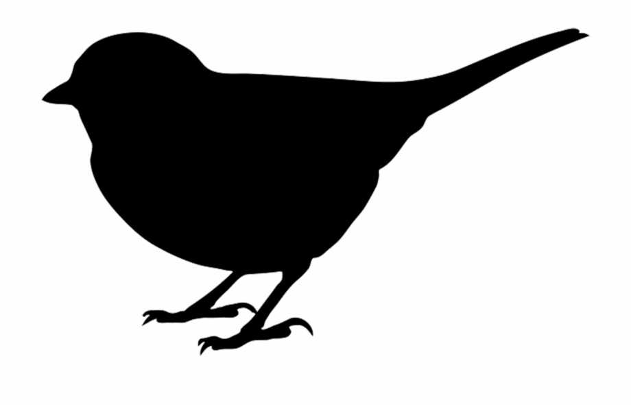 Finch Clipart Bird Silhouette.