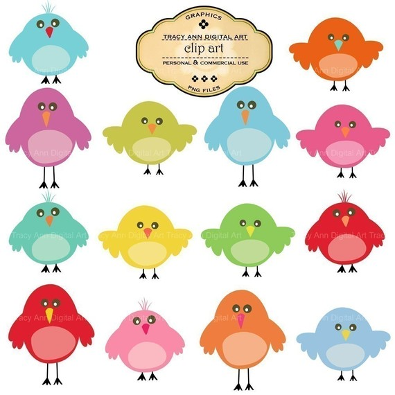 Items similar to Cute birdie clip art on Etsy.