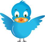 Vector Clip Art of Blue Bird.