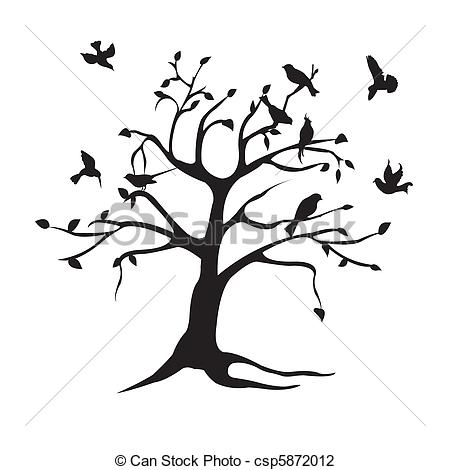 Clipart Birds In A Tree Clipground