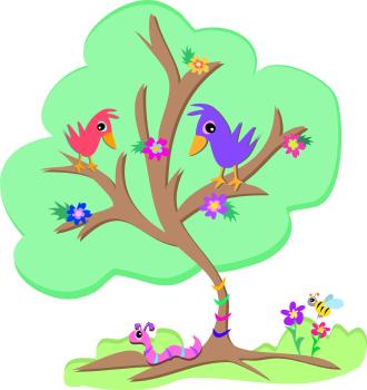Bird On A Tree Clipart.