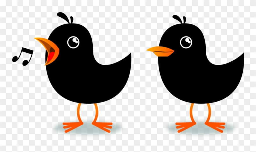 Birds Singing Clipart.