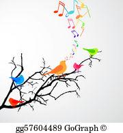 Singing Birds Clip Art.