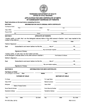 blank birth certificate forms.