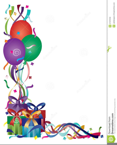 Clipart Birthday Borders.