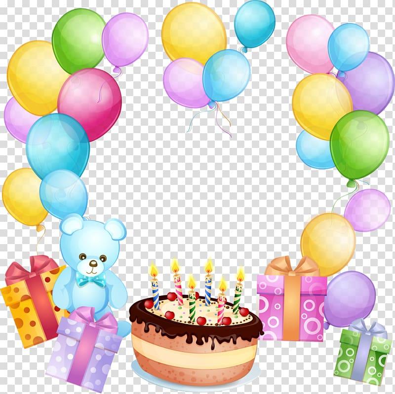 Birthday cake Balloon Gift Greeting & Note Cards, joyeux.