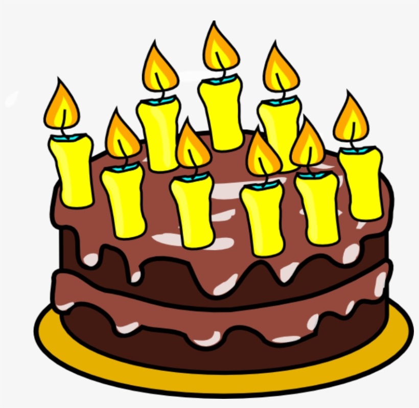 Birthday Cake And Balloons Clipart.