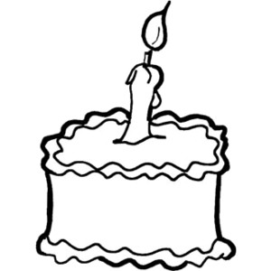 Birthday Cake Clipart Black And White.