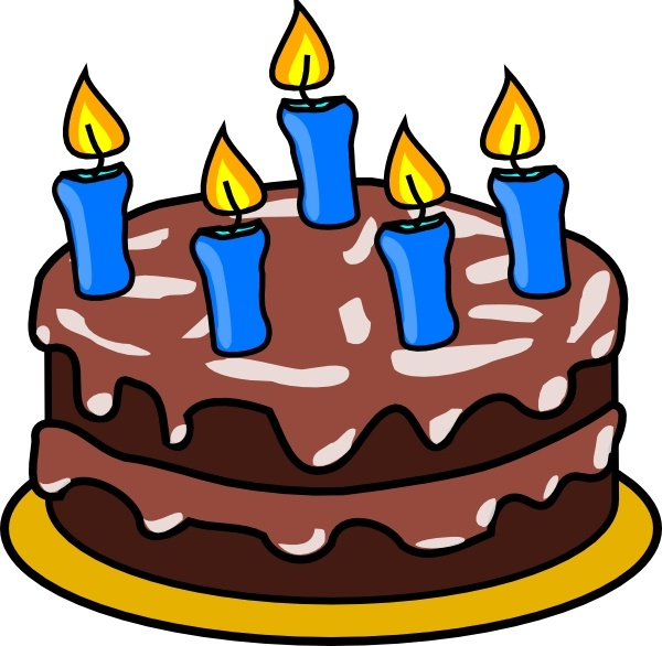 Birthday Cake clip art Free vector in Open office drawing svg.