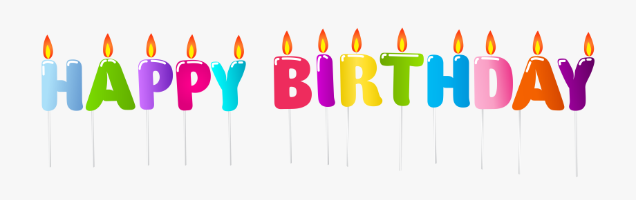 Clipart Candle Happy Birthday.