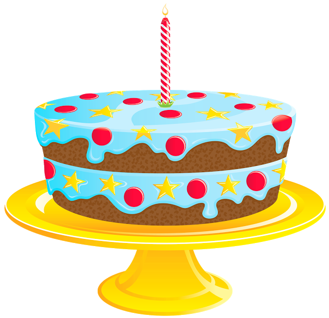 Happy Birthday Wishes Greetings Clipart Cake With Candles.