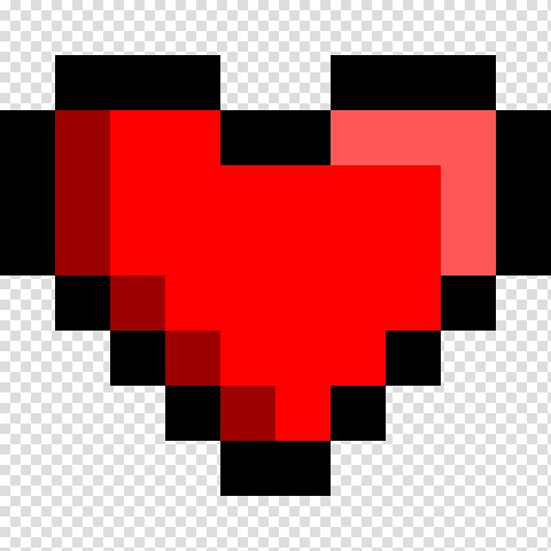 bit color Heart , 8 BIT transparent background PNG clipart.