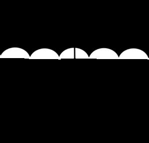 Black White Umbrella clip art.