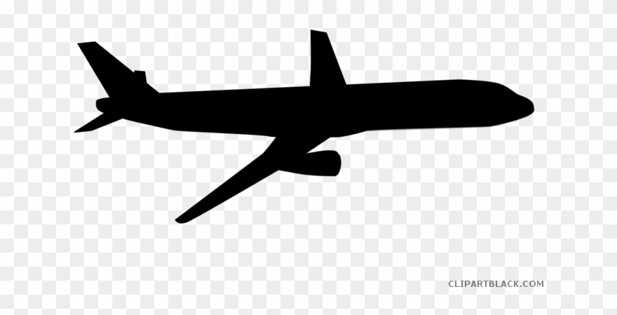 Airplane Transportation Free Black White Clipart Images.