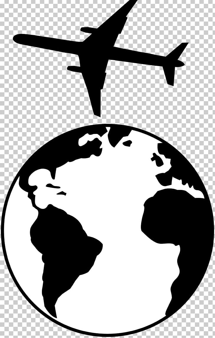 Earth Globe Black And White PNG, Clipart, Airplane, Airplane Walking.