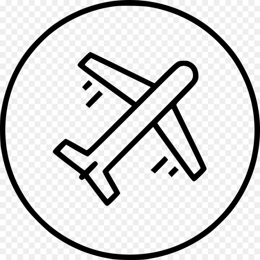 Airplane, White, Black, transparent png image & clipart free download.