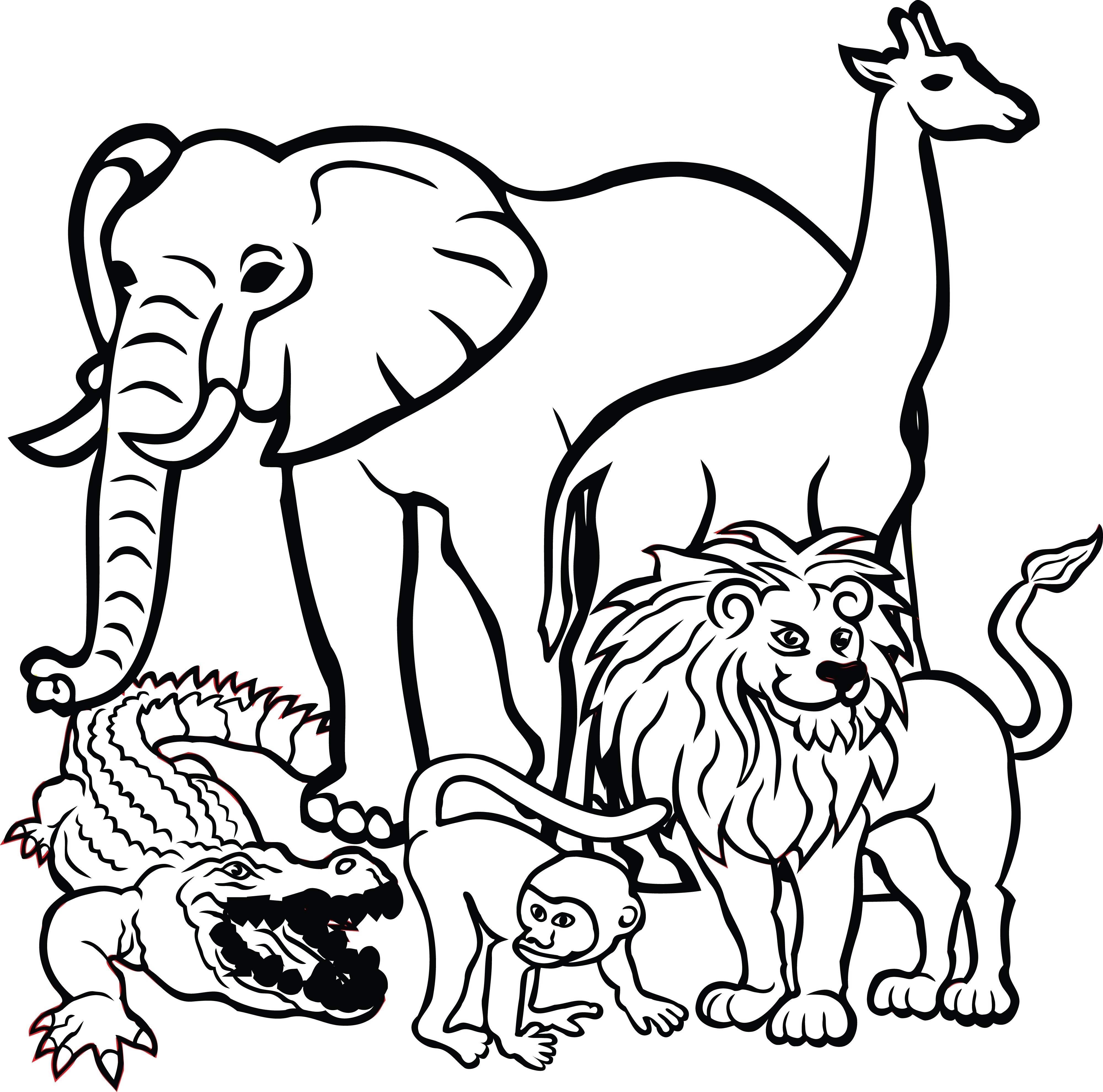 With Black N White Animals In Clipart And 15.