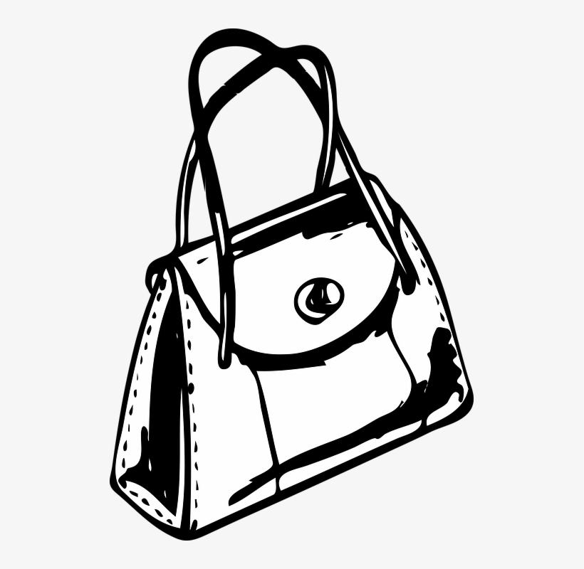 Bag Clipart Black And White Png.