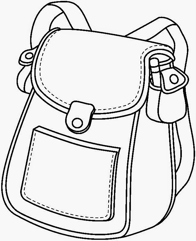Book Bag Clipart Black And White.