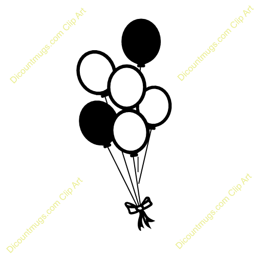 Birthday Balloons Clipart Black And White.