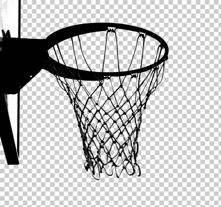 Black and White Basketball Hoop, basketball ring illustration PNG.