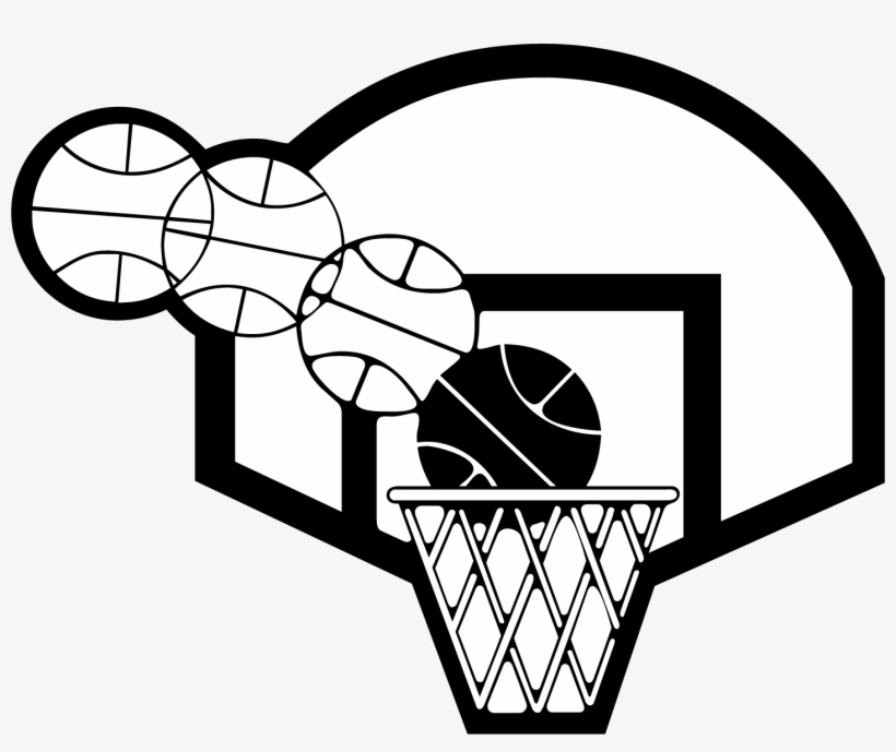 Svg Black And White Download Basketball Backboard Clipart.