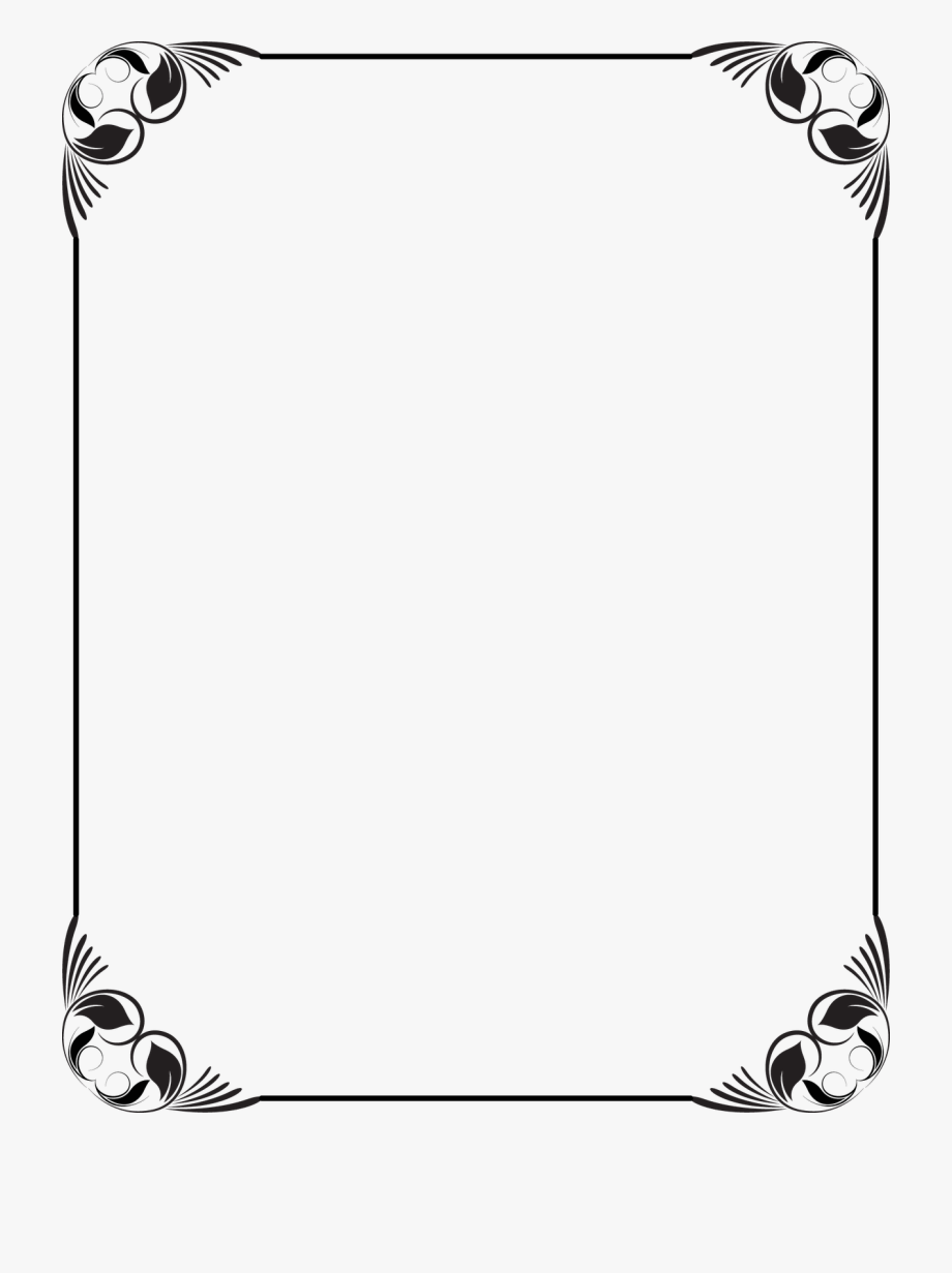 black and white border designs.