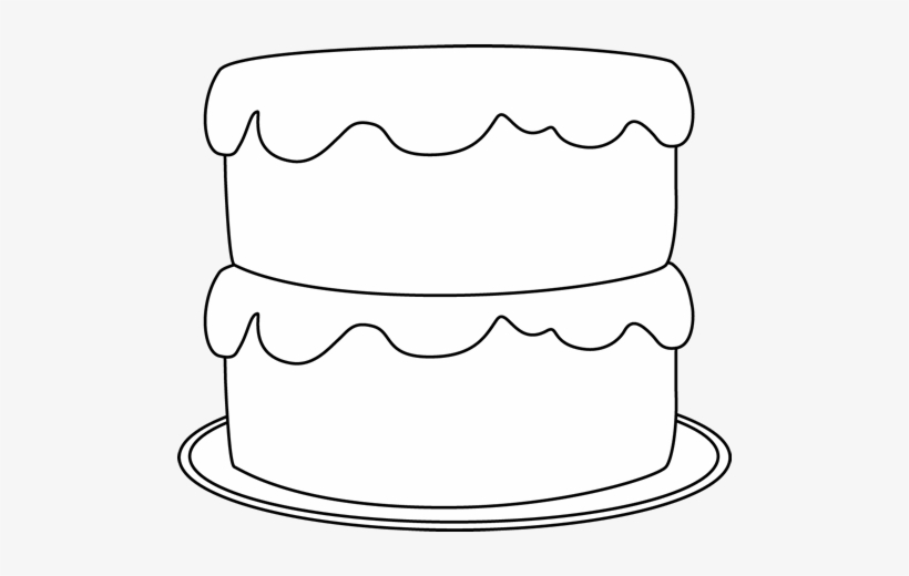 Black And White Cake Clip Art.