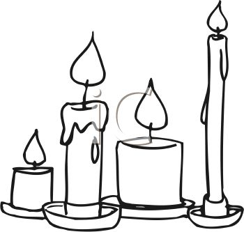 Free Black And White Candle Clipart.