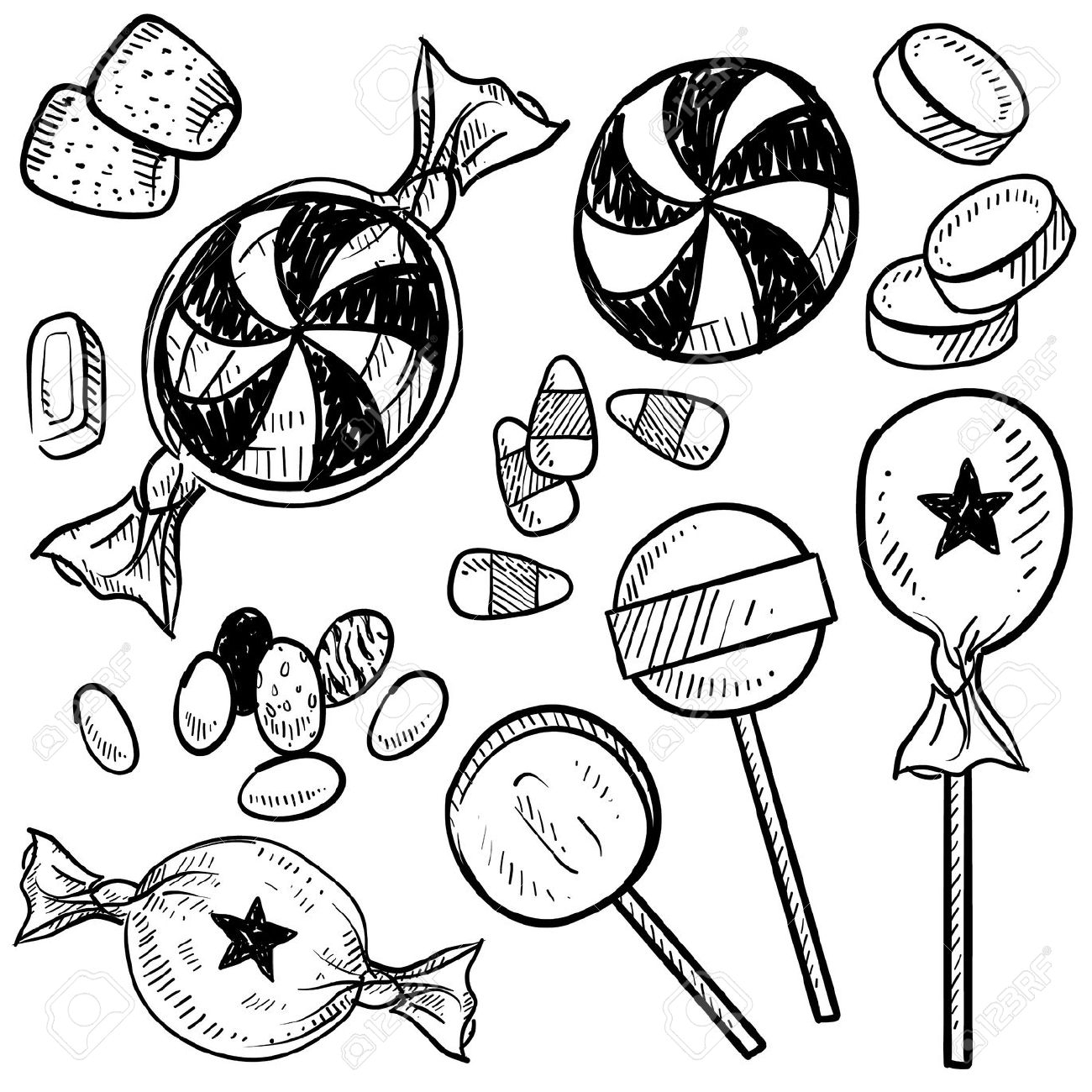 Candy black and white candy clip art black and white clipart 3.