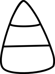Black And White Candy Corn Clipart.