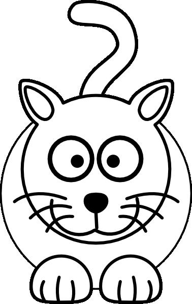 Cat Clip Art Black And White.