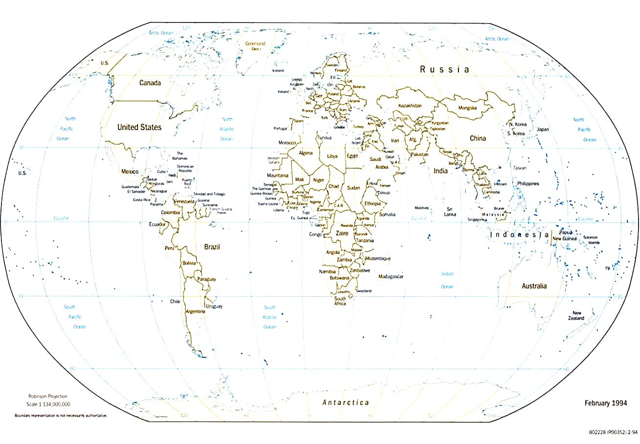 World Map Region.
