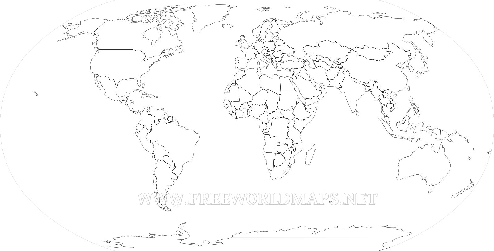 clipart black and white countries world - Clipground