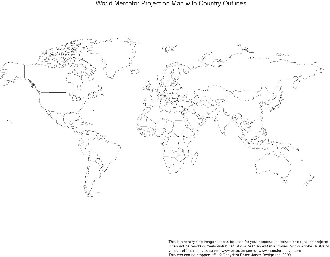 World Map Black And White With Country Names Outline Of Africa.