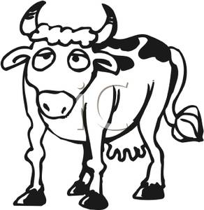 Cow Clipart Black And White.
