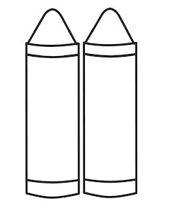 Crayon Box Clipart Black And White.