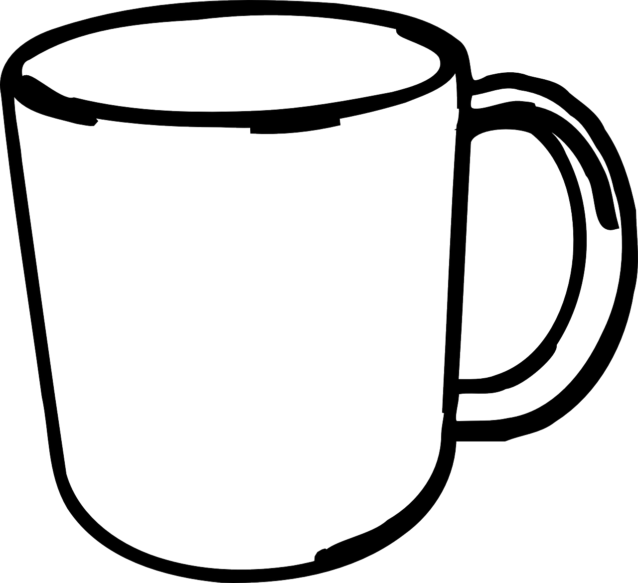 Cup Clipart Black And White 6.