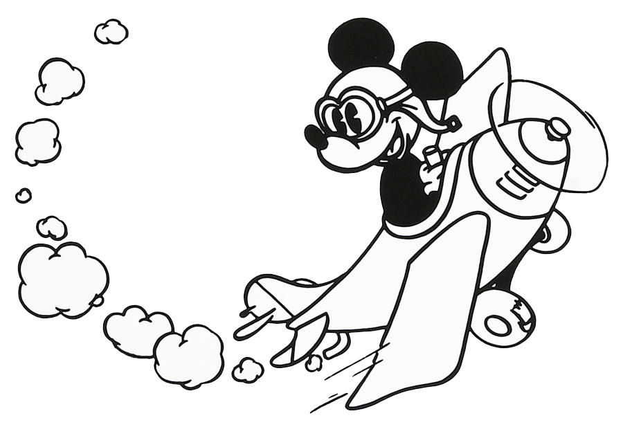Mickey Mouse Clipart Black And White.