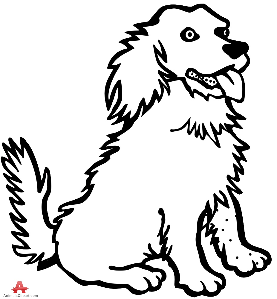 Dog black and white dog drawing in black and white free clipart.