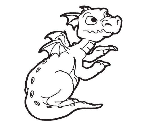 Black And White Dragon Clipart.