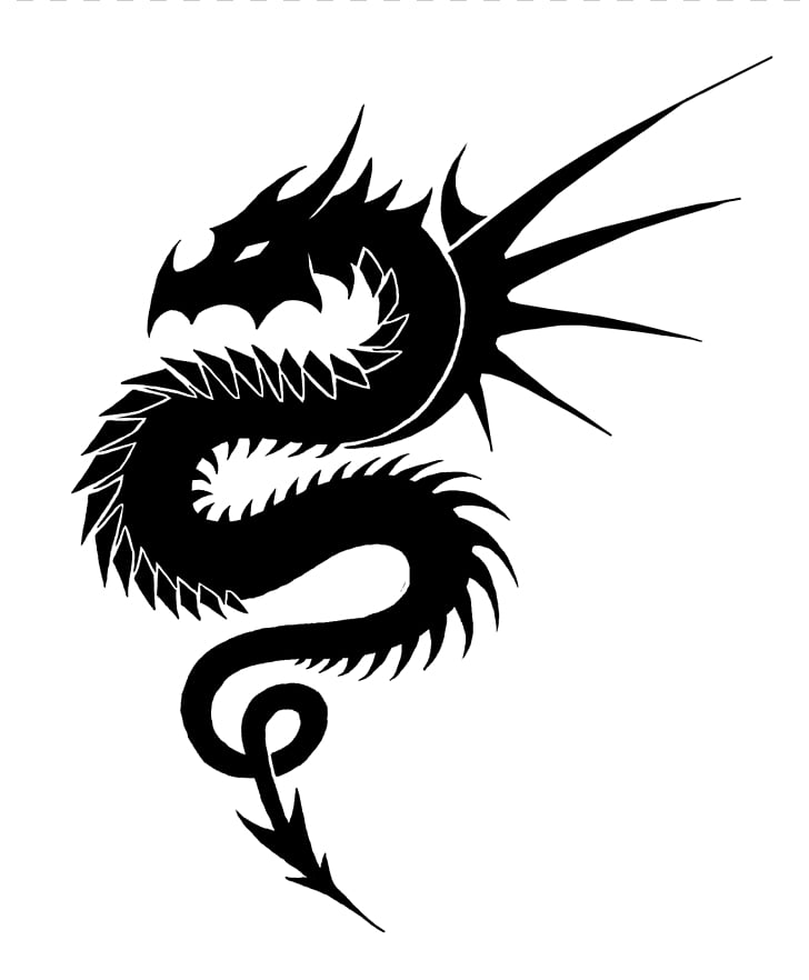 Black and white Dragon , Black And White Dragon s PNG.