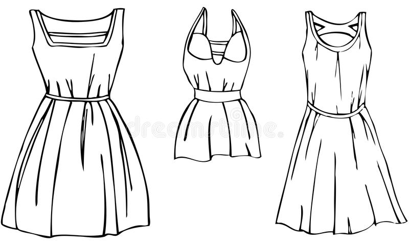 Clipart black and white dress 5 » Clipart Station.