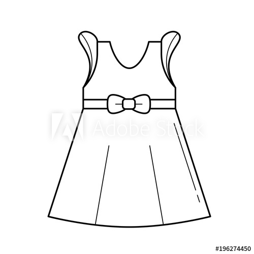 Dress clipart black and white, Dress black and white.