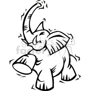 Republican black and white elephant clip art clipart. Royalty.