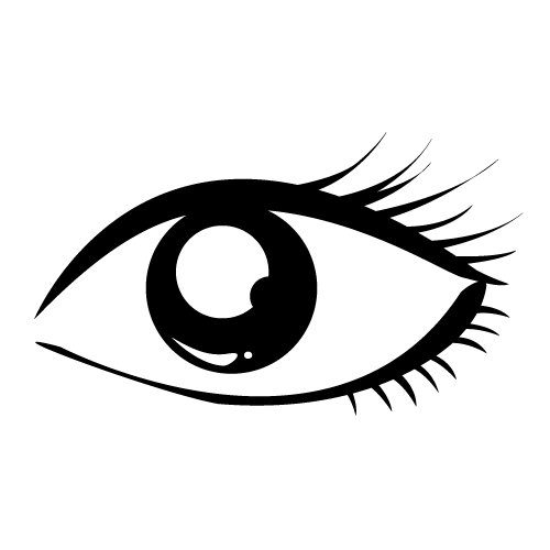 Beautiful Eye Clipart Black And White.