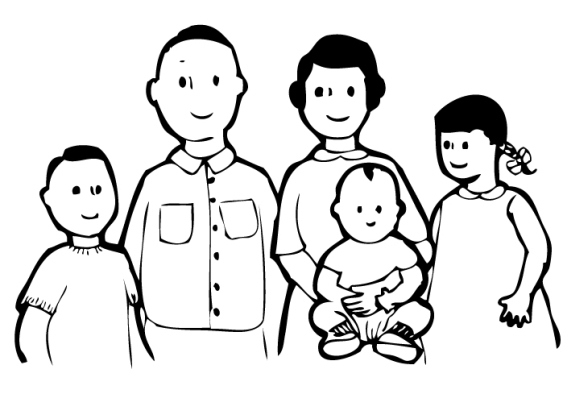 Clipart black and white family 5 » Clipart Station.